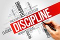 Discipline word cloud business concept Stock Photos