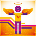 Disco angel. Royalty Free Stock Images