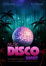 Disco background disco poster neon Stock Photography