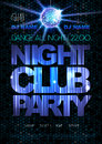 Disco background. Disco poster. Night club party Royalty Free Stock Photo