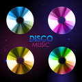 Disco background. Set of records