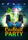 Disco ball background disco cocktail party poster on triangle b Stock Photography