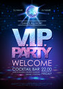 Disco ball background. Disco poster V.I.P. party. Neon Royalty Free Stock Photo