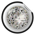 Disco ball black sticker Stock Photography