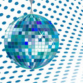 Disco ball blue Stock Photo