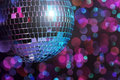 Disco ball blurred colorful background Royalty Free Stock Photography