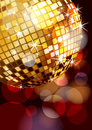 Disco ball corner Stock Image
