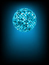 Disco ball with glow in haze. EPS 8 Royalty Free Stock Photo
