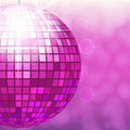 Disco ball isolated on gradient background