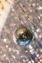 Disco ball light reflection background Royalty Free Stock Images