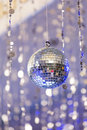 Disco ball light reflection background Royalty Free Stock Photo