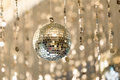 Disco ball light reflection background Royalty Free Stock Image