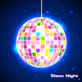Disco Ball in Musical Background Stock Image