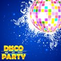 Disco Ball in Musical Background Stock Images
