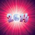 Disco ball new year with reflections Royalty Free Stock Images