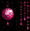 Disco ball red Stock Photography