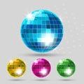 Disco ball set Royalty Free Stock Photo