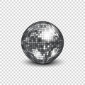 Disco ball with shadow. Mirror ball for decorating parties and discos.