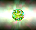 Disco ball sparkling light party background