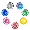 Disco ball stickers collection Stock Image
