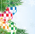 Disco balls Christmas ornaments Royalty Free Stock Photos
