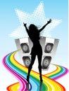 Disco beats Royalty Free Stock Photo