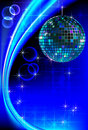 Disco blue light Royalty Free Stock Photography