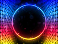 Disco Circle Box on Black Background Royalty Free Stock Image