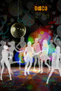 Disco club music dance people Stock Images