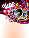 Disco Colorful Flyer Background Stock Photos