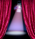 Disco curtains reveal show Royalty Free Stock Photography