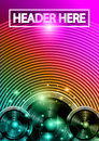 Disco Dance Art Design Poster with Abstract shapes and drops of colors behind Royalty Free Stock Photo