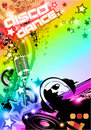 Disco Dance Background with DJ Silhouette Stock Images