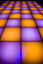 Disco dance floor with colorful lighting Royalty Free Stock Images