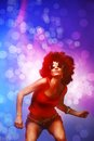 Disco dancer Royalty Free Stock Photography