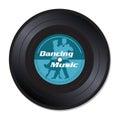 Disco di vinile di musica di dancing Fotografie Stock