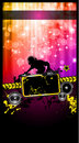 Disco Event Poster with a Disk Jockey Stock Images