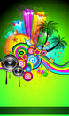 Disco Event Poster for tropical events Royalty Free Stock Photo