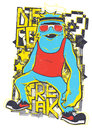 Disco freak vector illustration ideal for printing on apparel clothes Royalty Free Stock Image