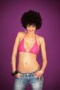 Disco girl posing Royalty Free Stock Photo