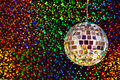 Disco glitter ball Stock Images