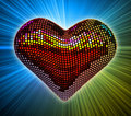 Disco heart Stock Photography