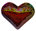 Disco heart Stock Photo