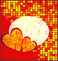 Disco heart. Vector illustration Royalty Free Stock Photos