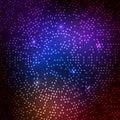Disco light vector party background. Neon abstract shine disco light design pattern digital techno bright glow