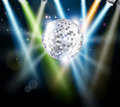 Disco mirror ball background Stock Images