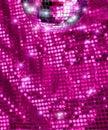 Disco mirror ball glitter Royalty Free Stock Photo