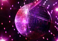 Photo : Disco Mirror Ball and Stars and disco neon