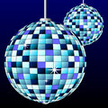 Disco mirror balls Stock Image