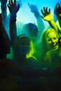 Disco - Modern young teenagers partying at a club Stock Image